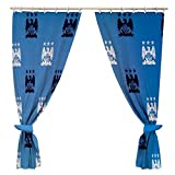 Manchester City FC Official Football Gift Curtains - A Great Christmas / Birthday Gift Idea For Men And Boys