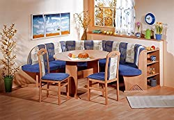 4 Piece Breakfast Nook Modern Dining Set