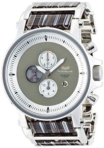 Vestal Unisex PLA012 Plexi Acetate Silver and Gray Watch