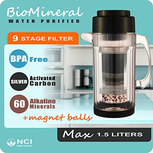 H2Go Max Portable Alkaline Water Purifier, 6 Cup (1.5 Liters)