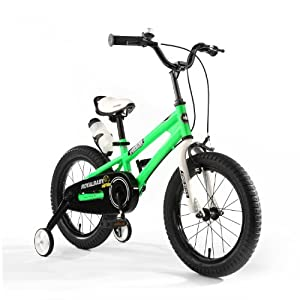 "R BABY 12"" INCHES FREESTYLE BMX KIDS BIKE IN COLOUR RED GREEN BLUE AND WHITE + free heavy duty adjustable removaable stabilisers+ free sports drink bottle and holder"