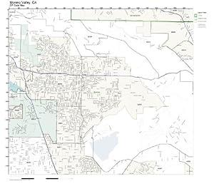 Amazon Com Zip Code Wall Map Of Moreno Valley Ca Zip