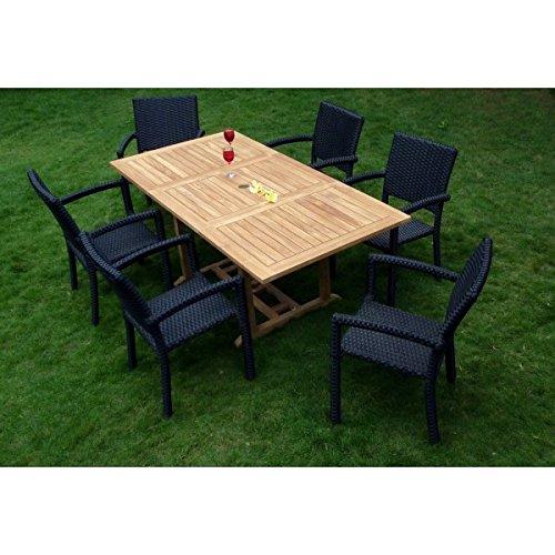 Gartenmöbel, Sitzgruppe Gartenstuhl aus Teak Limbok, roh kaufen