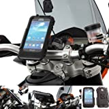 Ultimate Addons Motorcycle M8 Handlebar Clamp Bolt Mount Attachment with Waterproof Tough Case for the Samsung Galaxy S4 i9500
