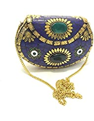 Nakkashee Latest Rajasthan Handcrafted Metal And Different Stone Sling Bags