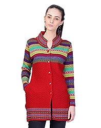 Montrex Red Designer Long Coat For Women