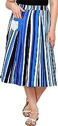 Rvestir Women's Poly Crepe Skirt (OM159)