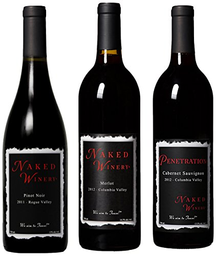 Naked Winery Red Hot Trio Mixed Pack, 3 X 750 Ml