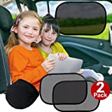 Cozy Greens® Car Window Shade (2 pack) | Baby Car Sun Shade | UPF50+ Protection 97% UV Rays Blocked | FREE Carrying Pouch, Car Games eBook | Cling Sunshade for Kids | Lifetime Satisfaction Guarantee