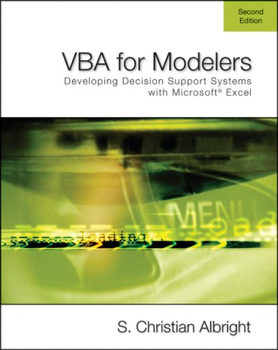 VBA for Modelers: Developing Decision Support Systems Using Microsoft Excel (with VBA Program CD-ROM) (Vba For Modelers compare prices)