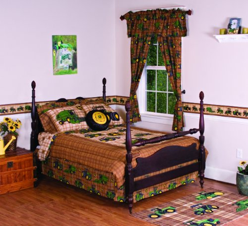 new john deere bedding traditional tractor and plaid