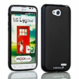 Fosmon DURA-FROST Smooth Durable & Flexible Slim Fit TPU Case Cover for LG Optimus L90 / T-Mobile LG D415 Retail Packaging (Black)