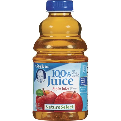 Gerber Nature Select Baby 100% Fruit Juice 32 Fl Oz (Pack of 2) (100% Apple Juice) (Baby Apple Juice compare prices)