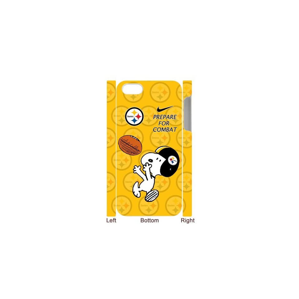 NFL Pittsburgh Steelers iPhone 5 Case Funny Snoopy Nike Logo Prepare For Combat Football Series Yellow Hard Cases Cover at NewOne