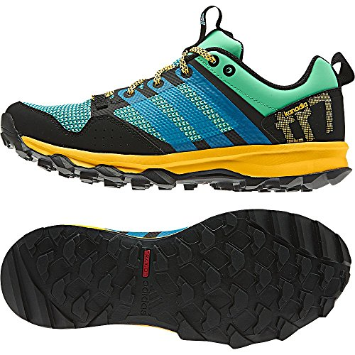 Adidas Sport Performance Women's Kanadia 7 Trail Athletic Sneakers, Green Textile, 7.5 M