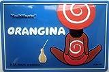 Orangina Girls Back embossed steel sign