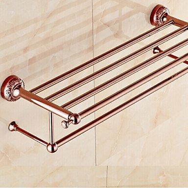 Mensola bagno, portasciugamani riscaldato, neo-classico oro rosa a parete