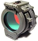 "Flip Up Red Filter for SureFire Flashlights with 1.37"" Diameter Bezels"