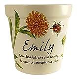 #2: Personlaized Candle Pots 011260046 Emily Candle Pots