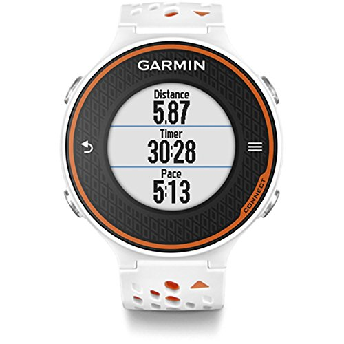 Garmin Forerunner 620 GPS Sport Fitness Running Watch White/Orange (Certified Refurbished)