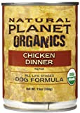 Natural Planet Organics Canned Chicken Dog Food 12/13 Oz Case
