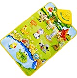 Sannysis® Teclado cantar música gimnasio alfombra estera para niños bebé