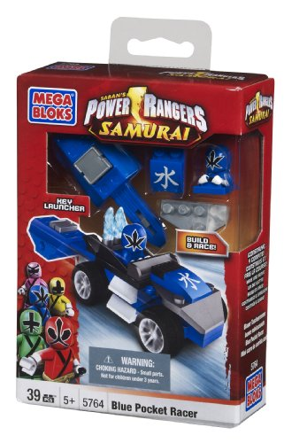 Mega Bloks Power Rangers Blue Pocket Racer - 1