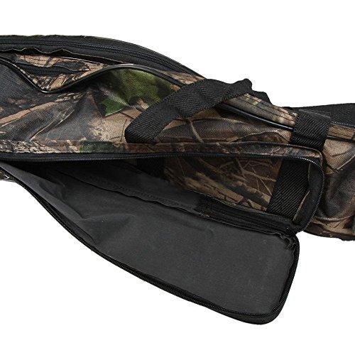Almatess folding portable waterproof double layer for Camo fishing pole