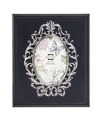 Prinz Marquis Black Wood Frame with Oval Nickel Border, 4″ x 6″