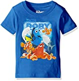 Disney Little Boys Finding Dory Movie Short Sleeve Tee Shirt, Royal, 5