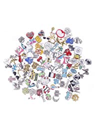 STOREINBOX 100PCS/Lot Handmade Mix Floating Charm For Glass Living Memory Locket