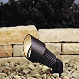 Kichler Lighting 15309AZT 12-Volt Low Voltage Accent Light with Heat Resistant Flat Glass Lens, Textured Architectural Bronze