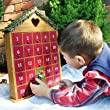Home Bazaar Holiday Heart Advent Calendar - Natural