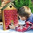 Home Bazaar Holiday Heart Advent Calendar - Natural