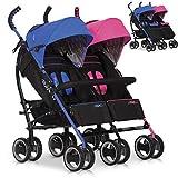 DUO Comfort Zwillinge und Geschwisterkinderwagen Baby Buggy Sportwagen - klappbar - MIXED multi