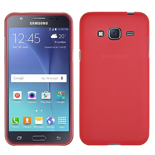 Samsung Galaxy J3 case, KuGi ® High quality ultra-thin TPU Soft Case Cover for Samsung Galaxy J3 smartphone (Red) (Smartphone Cases For Samsung compare prices)