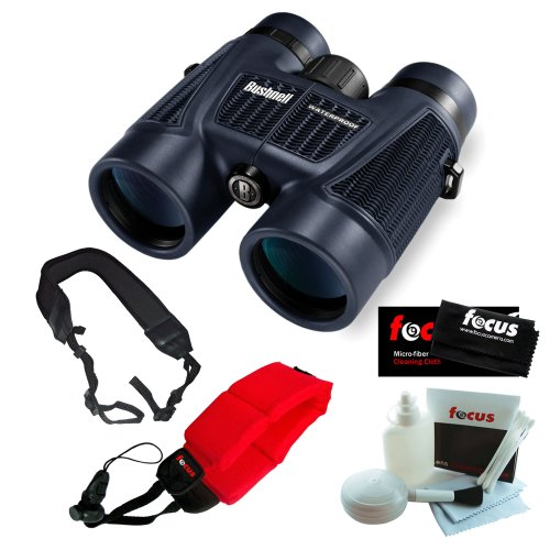 Bushnell H2O 10X 42Mm Roof Prism Binoculars, Clam Pack + Red Foam Strap + Accessory Kit