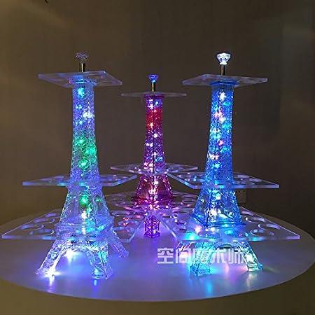BB Bar KTV Torre Eiffel Estante para vino Conjunto de cóctel de acrílico Colores de cócteles coloridos y coloridos Creative Beach Cup Wine Rack Bar , white