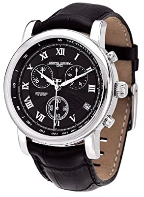 Jorg Gray Leather Chrono Black Dial Men's watch #JG7200-13