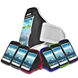 White Sports Jogging Armband Case Cover Comfortable Holder Soft Gym Adjustable Running For Motorola MOTO G 8GB XT1032 (XL) Mobile Cellular Phone
