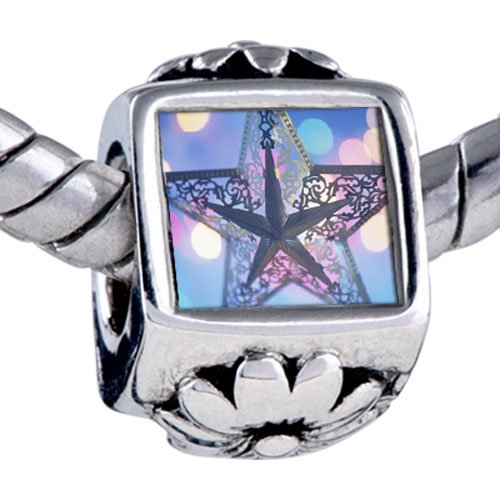 Pugster Bead Christmas Star Beads Fits Pandora Bracelet