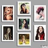 "7 Pc White Photo Frame Wall Collage, 4Pc 4"" X 6"", 3Pc 5"" X 5"""