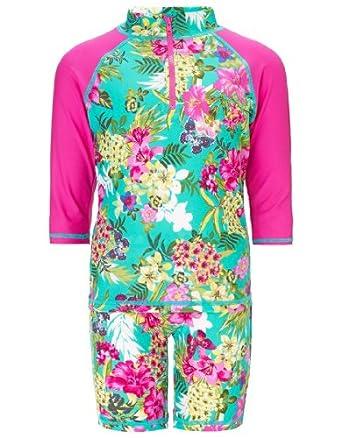 Monsoon Girls Makini Print Surfsuit Size 3-4 Years Multi