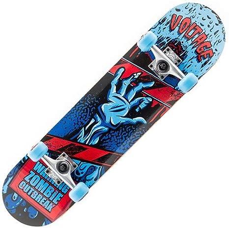 Voltage Zombies Mini Complete Skateboard Blue Width:7.50