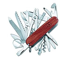 Victorinox Swiss Army SwissChamp Pocket Knife, Hardwood