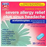 Rite Aid Severe Allergy plus Sinus Headache Caplets, 20 Ct.