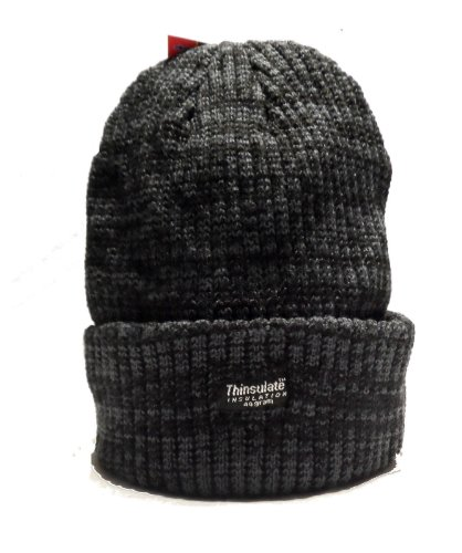 e8f0e2aaf00 Men s   Women s   Unisex Marl Chunky Thermal Beanie Hat in black   dark  grey. Thinsulate Fleece Lined Knitted Winter   Ski Thermal Beanie Hat (3M  40g)