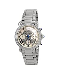 "JBW-Just Bling Women's JB-6210-D ""Victory"" Pearl Stainless Steel Diamond Watch"
