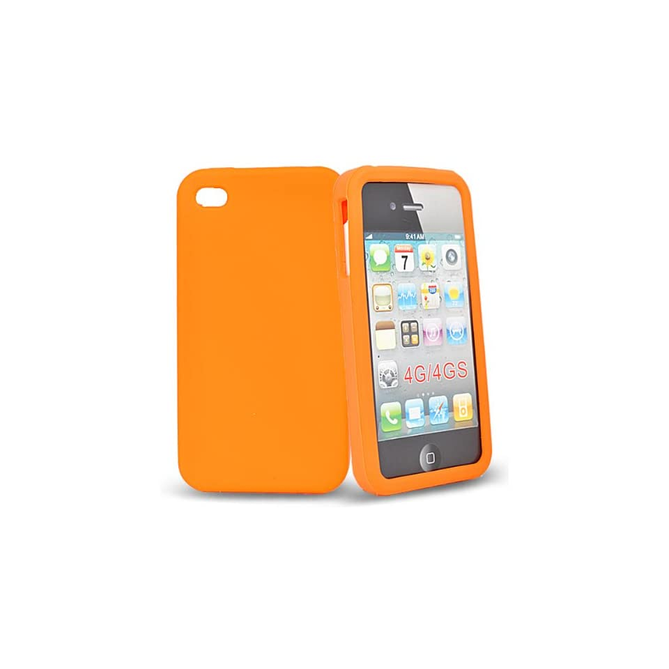 Mobile Palace  Orange silicone case cover for apple iphone 4s