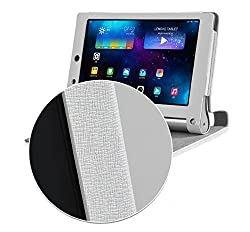 SPL Artificial PU Leather Premium quality Book Stand Cover For Lenovo Yoga 2 8-Inch Tablet -White